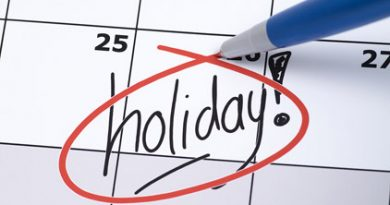 What is a holiday?