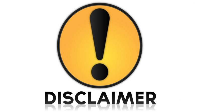 Disclaimers are the new black… not in a racist way